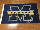 University of Michigan Wolverines Flag Banner 3x5 ft Brass Grommets