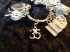 Celebrate Your 35 pound Weight Loss with 35 Charm for Weight Watchers Keychain