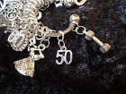 Celebrate Your 50 pound Weight Loss with 50 Charm for Weight Watchers Keychain