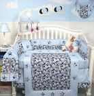 BLUE CRIB BEDDING SET ARMY CAMO Camouflage Infant Baby Nursery 13 Pc Quilt+ NEW