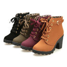 Fashion Women Ladies High Heel Lace Up Ankle Boots Ladies Buckle Platform Shoes