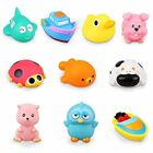 10 Pack Toddler Assorted Colorful Bath Toys Squirt Squeaker With
