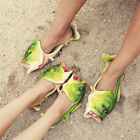 Unisex Fish Shower Slippers Funny Beach Shoes Sandals Bling Flip Flops Creative