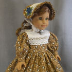 ~ APPLE BUTTER SWEET ~ Brown & Blue Civil War dress SET for Addy American Girl