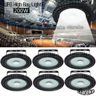 6X 200W UFO LED High Bay Light Warehouse Gym Roof Shed Lighting Industrial lamp