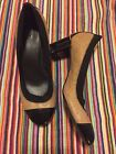 tory burch sz 8 carrie quilted leather mid heel pumps