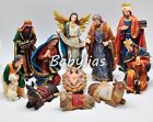 Big Christmas Nativity Set Scene Figures Figurines Baby Jesus 11 PIECE SET