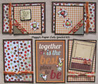 Premade Scrapbook Pages Mat Set TOGETHER ISSewn Fall Family Layout pack890