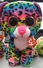 TY BEANIE BOOS DOTTY THE LEOPARD 9in MED PLUSH 2016 MULTI COLORED PLUSH