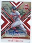 RHYS HOSKINS 2016 ELITE EXTRA EDITION ASPIRATIONS RED DIE CUT AUTOGRAPH AUTO