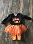 Halloween Boutique Outfit 3 6 Months BOO Owl Dots