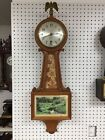 Large Antique Sessions Alden Model Banjo Clock