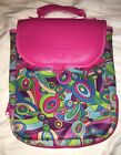 WEIGHT WATCHERS Neon Pink Geometric Print Neoprene Organizer Lunch Bag
