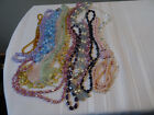 VINTAGE LOT OF GLASS AND CRYSTAL NECKLACES
