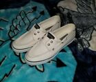Sperry Top Sider White Canvas Boat Shoes