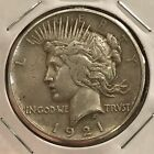1921 1 High Relief Peace Silver Dollar Problem Free XF