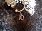 Celebrate Your 10 lb Weight Loss 10 Lrg Charm for Weight Watchers Keychain