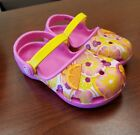 Toddler Girls Crocs Size 8Pink  Yellow Worn Twice Great Condition