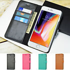 Luxury Leather Wallet Case Flip Stand Cover For Apple iPhone 8 8 Plus