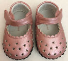 NEW Pediped Pink Stars Leather soft baby girls 0 6 Months crib shoes