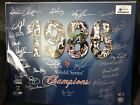 1986 New York Mets Team Signed World Series Celebration 16x20 Photo 27signitures
