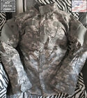 LOOK US ARMY MILITARY ACU DIGITAL CAMO SHIRT COAT GI size LARGE LONG