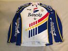 Vintage 1990s Banesto Long Sleeve LS Cycling Jersey Size 4