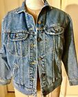 Vintage LEE RIDERS SANFORIZED Denim Jean Jacket Size Small Medium Made In USA