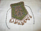 Antique 1920s Hand Embroidered Metallic Drawstring Reticule Purse Bag-Ottoman