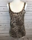 August Silk knits womens size small animal print tank top chain strap detail