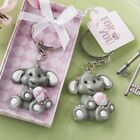 144 Adorable Pink Baby Girl Elephant Key Chain Baby Shower Christening Favors