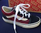 New Vans Old Skool Navy Maroon Suede Sneaker Laces Kids sz 125 US 12UK 30EU