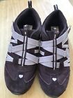 SKECHERS PRETTY TALL GIRLS SIZE ATHLETIC SHOE BROWN LEATHER TEXTILE PINK SILVER