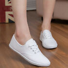 1 Pairs Hot New Womens Canvas Lace Up Casual Sneakers Tennis Flats Shoes Nice