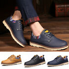 Men s Fashion Casual Polyurethane Leather Lace up Sneakers Saddle Shoes