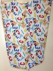 Disney Mickey Mouse Crib Toddler Flat Bed Sheet Minnie Pluto Fabric VIntage
