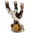 FITZ AND FLOYD HALLOWEEN HARVEST GHOST CANDLE HOLDER CANDELABRA NIB