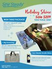 Bernina Sewing Machine Sew Steady Wish Holiday Shine Extension Table Package