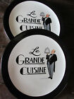 PAIR CERTIFIED INTERNATIONAL-TRACY FLICKINGER LE GRANDE CUISINE DINNER PLATES