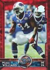 2015 Topps Football 60th Anniversary Red #361 Mario Williams T60 16/60 Bills
