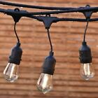 48ft Outdoor String Lights Commercial Patio Lights with 15 Bulb Backyard Vintage
