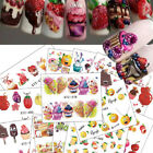 18X Ice Cream ail Art Decals Stickers Tips Charm Manicure Christmas DIY Decor