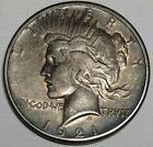 1921 Peace Dollar Key Date awesome rim toning some blue  Free shipping