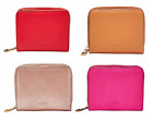 Fossil Emma RFID Mini Multifunction Zipper Wallet Leather Red Rose Gold Tan Pink