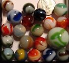 20 Vintage WV Swirl Marbles Alley Agate Ravenswood Christensen W Shooter NM-Mint