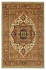 Original 10x14 Ivory-Rust Rug Made by hand Serapi Wool Area Rug