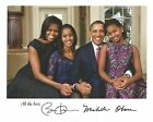 8x10 pre printed signed photo Barack and Michelle Obama Obama Family