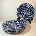 Lot of (5) Queen's Calico Blue Salad Plates 8