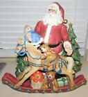 FITZ AND FLOYD OLD FASHIONED CHRISTMAS CENTERPIECE - RARE - MINT CONDITION
