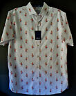 XX LARGE / CROWN & IVY Cotton Men FIESTA DANCING LADY White S/S Shirt NEW & TAGS